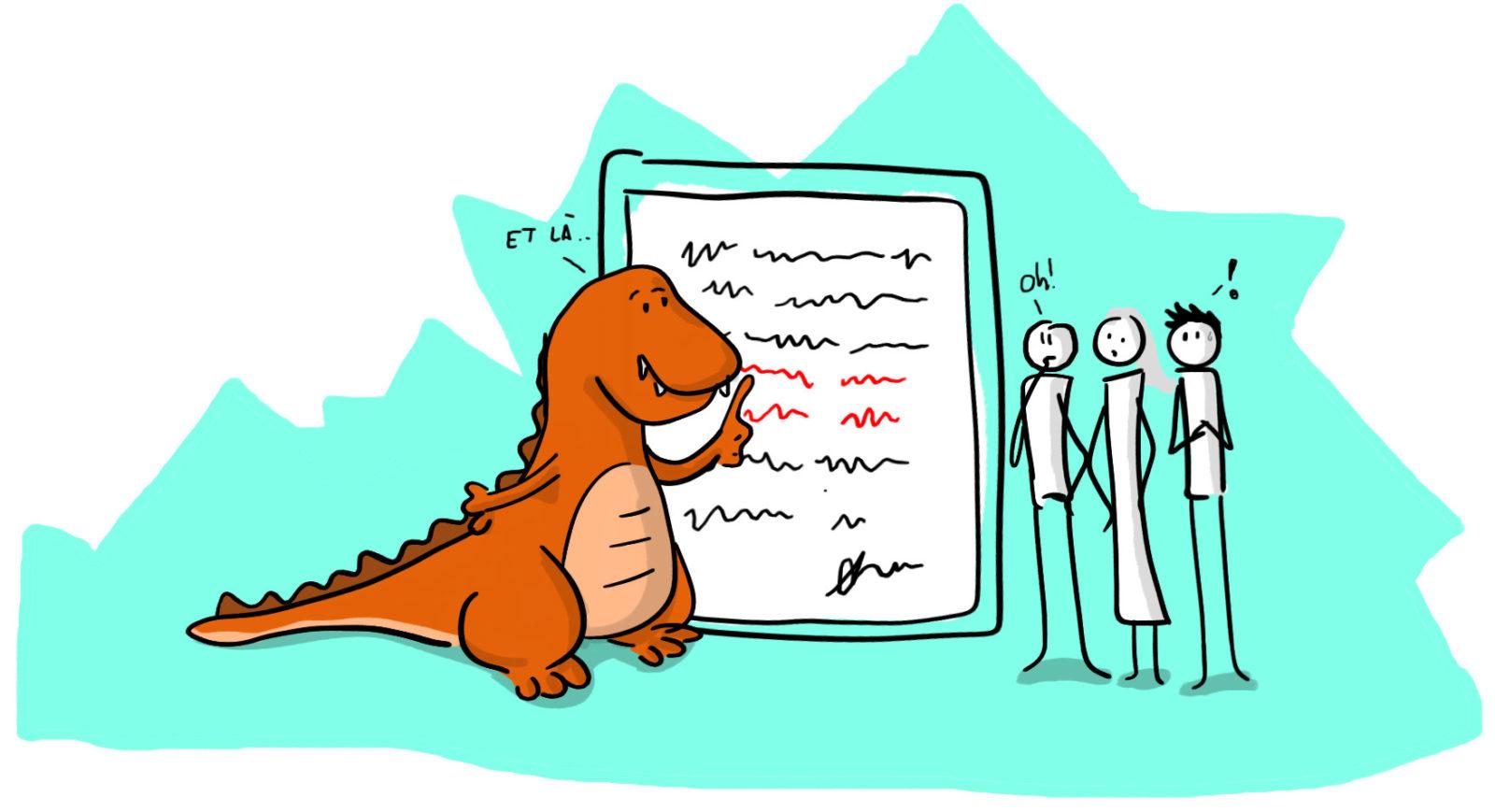 D-Rex explique à ses collègues ...